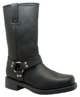 "RideTecs Men's 13"" Waterproof Harness Boot Leather Motorcycle Biker Black 1446"
