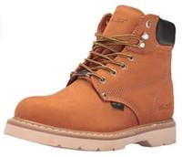 """AdTec Men's 6"""" Steel Toe Work Boot Rugged Contractor Slip Resistant Tan 1982"""