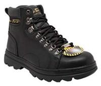 "AdTec Men's 6"" Leather Hiker Boots Steel Toe Work Boot Construction Black 1980"