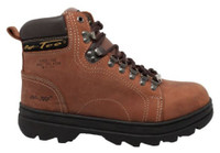 "AdTec Men's 6"" Crazy Horse Leather Hiker Boots Steel Toe Work Rugged Brown 1977"