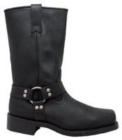 "RideTecs Men's 13"" Harness Boot Leather Motorcycle Biker Work Safety Black 1442"