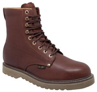 "AdTec Men's 8"" Farm Boots Leather Lace Up Work Boot Redwood  1311"