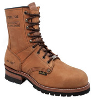 "AdTec Mens 9"" Logger Steel Toe Work Boot Full-Grain Leather Job Site Brown 1740"
