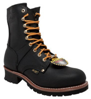 "AdTec Mens 9"" Logger Steel Toe Work Boot Full-Grain Leather Job Site Black 1428"