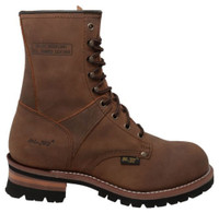 "AdTec Men's 9"" Work Logger Brown Crazy Horse Boots Leather Rugged Brown 1427"