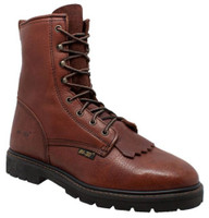 "AdTec Men's Lacer Soft Toe Leather Lace Up Western Boots 9"" Shaft Chestnut 1180"