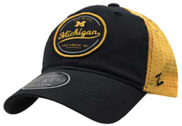 Zephyr University of Michigan Lager Hat Baseball Cap Go Blue Ann Arbor Mesh