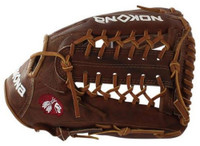 "Nokona Baseball 12.75"" Walnut Series Modified Web Outfield Glove LHT W-1275M/R"