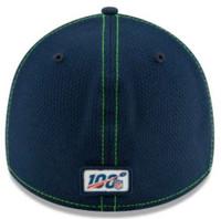 New Era Men's Seattle Seahawks Cap Hat Sideline Road NFL Football 100 Season