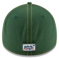 New Era Men's Green Bay Packers Cap Hat Sideline Road NFL Football 100 Season