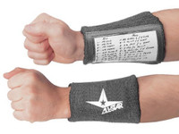 All-Star Adult Football Playmaker Quarterback Wristband Window Playcard Holder