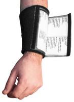 All-Star Adult Football Double Quarterback Wristband 3 Window Playcard Holder