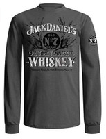Jack Daniels Men's Gray Old Time Tennessee Whiskey Tee T-Shirt Liquor 412JD-79