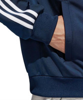 Adidas Men's Collegiate Essentials Track Jacket Zip Warm-Up Suit Navy B47367
