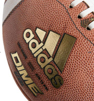 Adidas Dime Leather Football NFHS Stamp Air 13 PSI Official Size Brown CL6419
