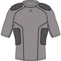 Adidas Youth Football TF Techfit Smash 5 Padded SS Shirt Junior Gray BS2660