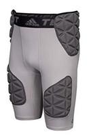 Adidas Men's Football TF Techfit Smash 5 Padded Girdle Shorts Light Gray BS2666