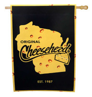 Original Cheesehead Decorative Suede House Flag, 29 x 43 inches 13S5070