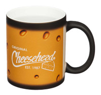 Original Cheesehead Classic Reveal Ceramic Mug - Matte Black, 11 oz. 3CR5070