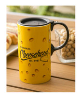 Original Cheesehead Ceramic Tall Boy Travel Cup w/ Gift Box, 20 oz. 3TBT5070
