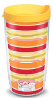 Tervis 16 oz Fiesta Sunny Line Tumbler Mug Travel Cup w/ Lid Dishwasher Safe USA
