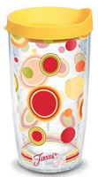 Tervis 16 oz Fiesta Sunny Dots Tumbler Mug Travel Cup w/ Lid Dishwasher Safe USA
