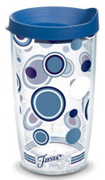 Tervis 16 oz Fiesta Lapis Dots Tumbler Mug Travel Cup w/ Lid Dishwasher Safe USA
