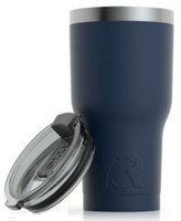 RTIC 20 oz Thermal Tumbler Stainless Steel Coffee Mug Travel Cup (Matte Navy)