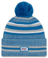 New Era 2019 NFL Detroit Lions Cuff Knit Hat Home OTC Beanie Stocking Cap Pom