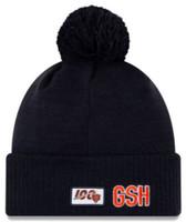 New Era 2019 NFL Chicago Bears Cuff Knit Hat Road OTC Beanie Stocking Cap Pom