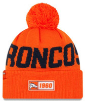 New Era 2019 NFL Denver Broncos Cuff Knit Hat Road OTC Beanie Stocking Cap Pom