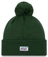 New Era 2019 NFL Green Bay Packers Cuff Knit Hat Road OT Beanie Stocking Cap Pom