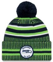 New Era 2019 NFL Seattle Seahawks Cuff Knit Hat Home OTC Beanie Stocking Cap Pom
