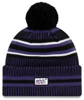 New Era 2019 NFL Baltimore Ravens Cuff Knit Hat Home OTC Beanie Stocking Cap Pom