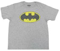 Batman Men's Tee T-Shirt Super Hero DC Comics Marvel Justice League BatmanGrey