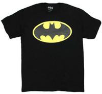 Batman Men's Tee T-Shirt Super Hero DC Comics Marvel Justice League BatmanBlack