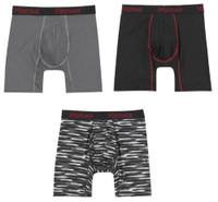 Hanes Mens Comfort Flex Fit Boxer Briefs Mesh Underwear (3 Pk) Pattern/Solid