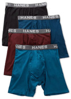 Hanes Mens Ultimate Comfort Flex Fit Boxer Briefs Underwear (4 Pk) Multicolor