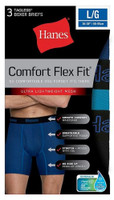 Hanes Mens Comfort Flex Fit Boxer Briefs Sport Mesh Underwear (3 Pk) Blue/Gray
