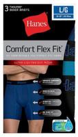 Hanes Mens Comfort Flex Fit Boxer Briefs Sport Mesh Underwear (3 Pk) Blue/Gray