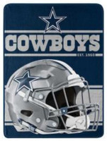 "Northwest NFL 46""x60"" Throw Blanket Football Microfleece Run - Dallas Cowboys"