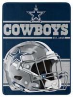 "Northwest NFL 46""x60"" Throw Blanket Football Microfleece Run - Dallas Cowboys"