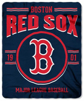 "Northwest MLB Fleece 50""x60"" Throw Blanket Baseball SouthPaw - Boston Red Sox"