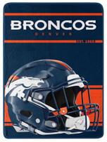"Northwest NFL 46""x60"" Throw Blanket Football Microfleece  Run - Denver Broncos"