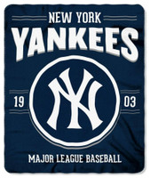 "Northwest MLB Fleece 50""x60"" Throw Blanket Baseball SouthPaw - New York Yankees"