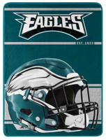 "Northwest NFL 46""x60"" Throw Blanket Football Micro Run - Philadelphia Eagles"