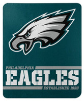 "Northwest NFL 50""x60"" Throw Blanket Football Split Wide - Philadelphia Eagles"