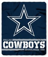 "Northwest NFL 50""x60"" Throw Blanket Football Split Wide - Dallas Cowboys"