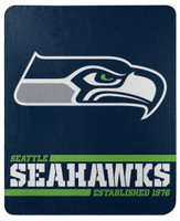 "Northwest NFL 50""x60"" Throw Blanket Football Split Wide - Seattle Seahawks"