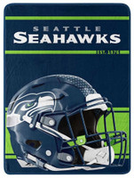 "Northwest NFL 46""x60"" Throw Blanket Football Microfleece Run - Seattle Seahawks"